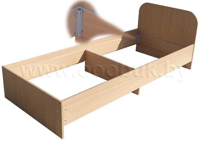 Односпальную кровать своими руками из дсп фото