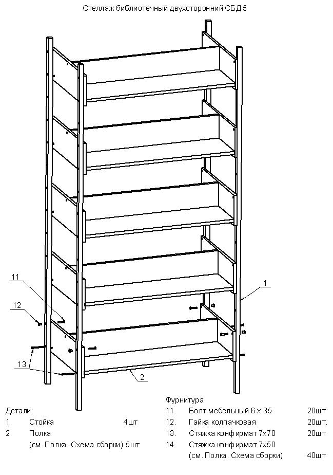 Схема сборки стеллаж